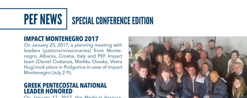 PEF Conference News