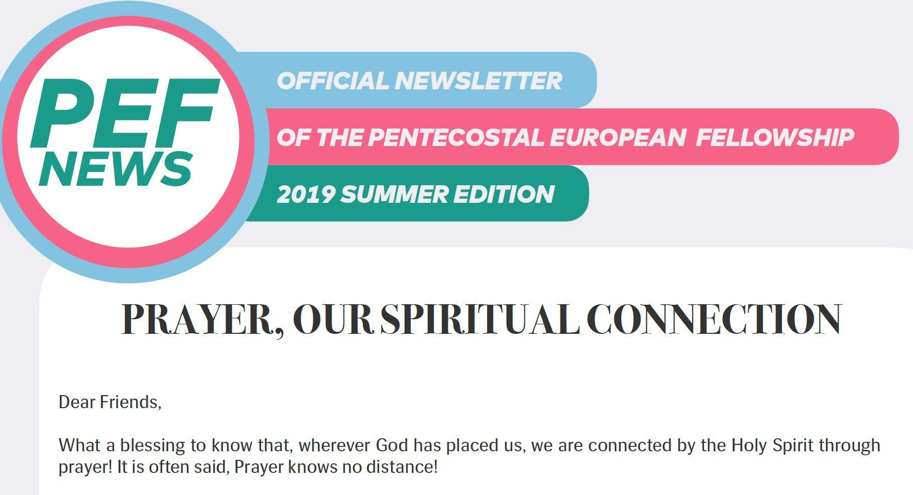 PEF Newsletter Summer Edition 2019 / Directory Update